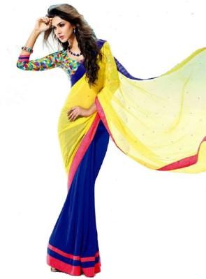 Glamour Tex Floral Print Bollywood Georgette Sari