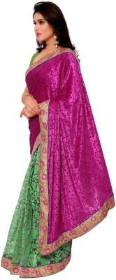The Fancy Sarees Embriodered Banarasi Velvet Sari