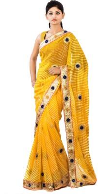 Aasmara Striped Leheria Chiffon Sari