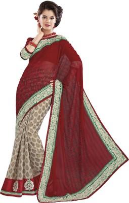 Ridhi Sidhi Printed Fashion Chiffon Sari
