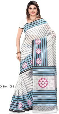 Sarees House Striped, Printed Fashion Cotton Sari