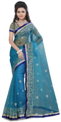 Gunjan Creation Woven Fashion Net Sari