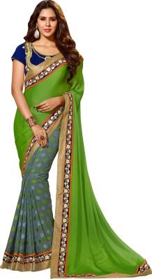 Crafts N Culture Self Design Fashion Chiffon, Jacquard Sari