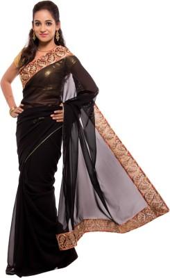 Geisha Plain Fashion Georgette Sari