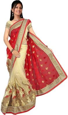 KESHUBHAI Embriodered Fashion Net Sari
