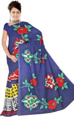 Anand Sarees Floral Print Daily Wear Georgette Sari