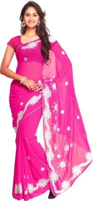 Aruna Sarees Embriodered Fashion Georgette Sari