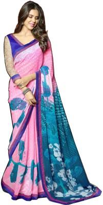 RCPC Floral Print Fashion Crepe Sari