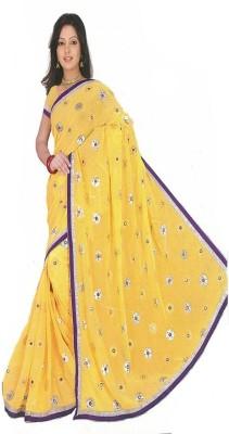 Maxusfashion Embriodered Fashion Chiffon Sari