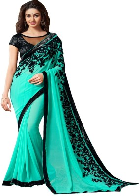 Fabaron Enterprise Embriodered Bollywood Georgette Sari
