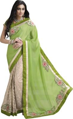 Moh Manthan Self Design Fashion Chiffon, Net Sari