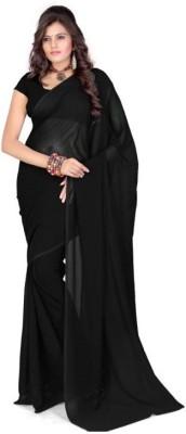 Nityaa Fashions Plain Fashion Georgette Sari