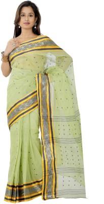 B3Fashion Woven Tant Handloom Cotton Sari