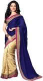 Leewodeal Solid Bollywood Georgette Sare...