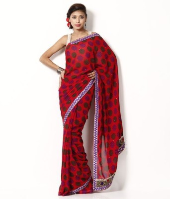 AVR FASHIONS Printed Daily Wear Georgette Sari