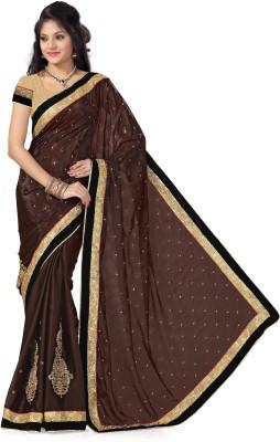 Preeti Solid, Self Design Bollywood Satin, Jacquard Sari