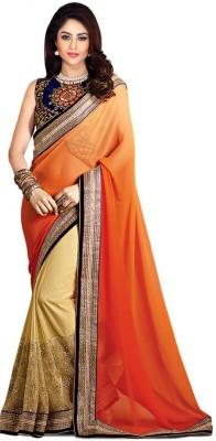 Rozdeal Embriodered Fashion Net, Chiffon Sari