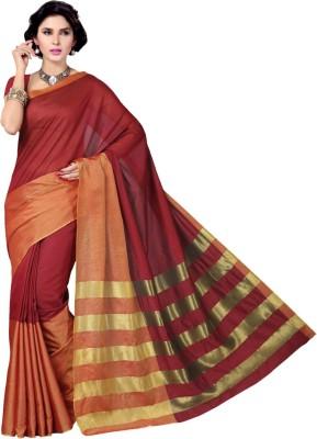 Rani Saahiba Solid Gadwal Cotton Sari