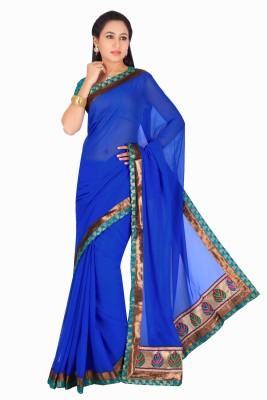 Maruti Fashion Solid Bollywood Chiffon Sari