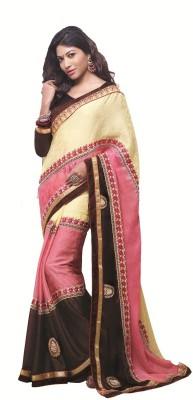 Shivam Embridery Self Design Fashion Georgette Sari