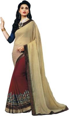 Dwiti Ethnic Solid Fashion Jacquard Sari