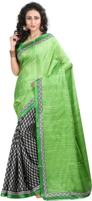 Gazbiyya Printed Fashion Poly Silk Sari