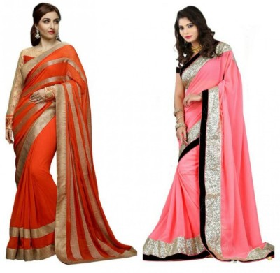 Deepak Sari Applique Bollywood Georgette Sari