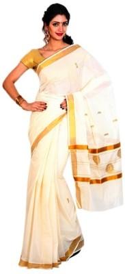 Thirumalai Textiles Solid Balarampuram Cotton Sari