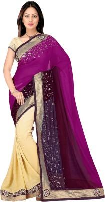pbs prints Self Design Fashion Georgette Sari