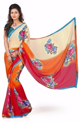 Yashoda Sarees Printed Fashion Georgette Sari