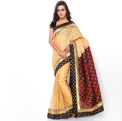 Shree Parmeshwari Striped Bollywood Kota, Jacquard Sari
