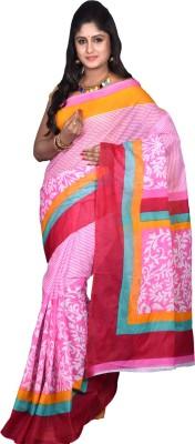 Glamorous Lady Printed Mangalagiri Polycotton Sari