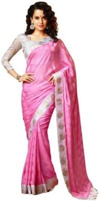 Glamour Tex Plain Bollywood Georgette Sari