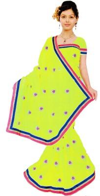 Bosan Fashion Plain Bollywood Chiffon Sari