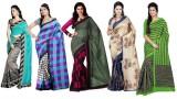 JENNY Printed Bhagalpuri Banarasi Silk S...