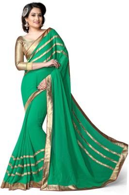 BollyLounge Striped Fashion Georgette Sari