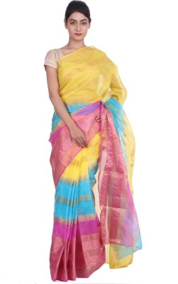 Geroo Striped Kota Doria Art Silk Sari