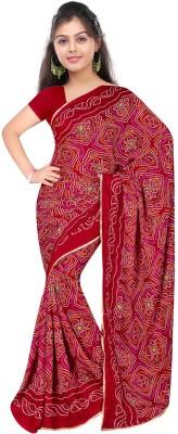 Styloce Self Design Fashion Crepe Sari