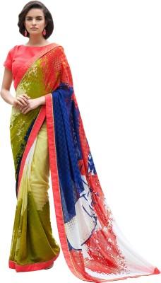 Brijraj Printed Fashion Georgette Sari