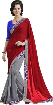 Indian Women By Bahubali Self Design Fashion Georgette Sari