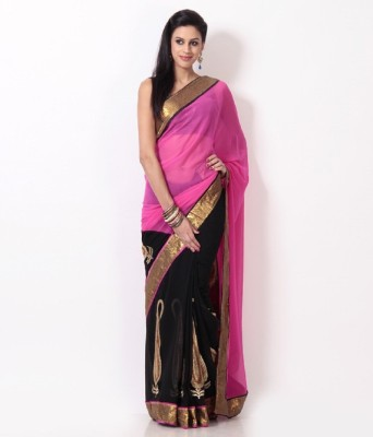 MyDeal Embriodered Fashion Chiffon Sari
