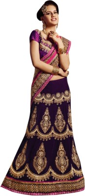 Aagamanfashion Self Design Fashion Velvet, Net, Georgette Sari at flipkart
