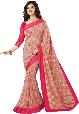 Shivanifashion Floral Print Bollywood Viscose Sari