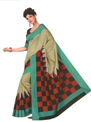 TrulyDesi Printed Fashion Silk Sari