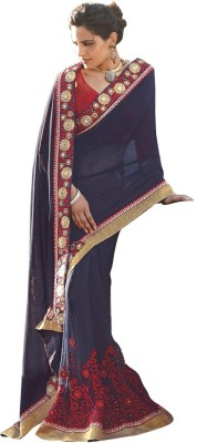 Laxmipati Embriodered Chanderi Pure Georgette Sari