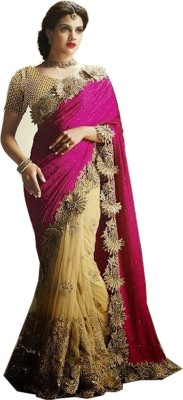 Mac Enterprise Embriodered Bollywood Net Sari