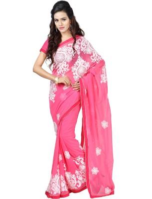 FebSense Embriodered Bollywood Georgette Sari