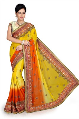 Hari Krishna sarees Self Design Fashion Georgette Sari