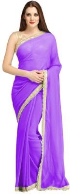 Khodiyar Creation Plain Fashion Pure Georgette Sari