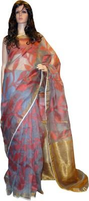 Tanjinas Woven Muslin Handloom Muslin Sari